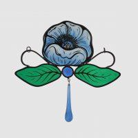 A.Blüte blau ca.18 x18 cm