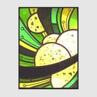 Abstrakt Kreise grün