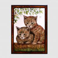 Katzenpaar ca.28 x 37 cm