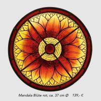 Mandala Blüte rot