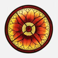 Mandala Blüte rot ca.37 cm -o-