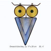 Dreieck Eule blau