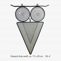 Dreieck Eule weiß