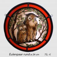 Eulenpaar rund