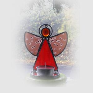 Engel stehend rot neb